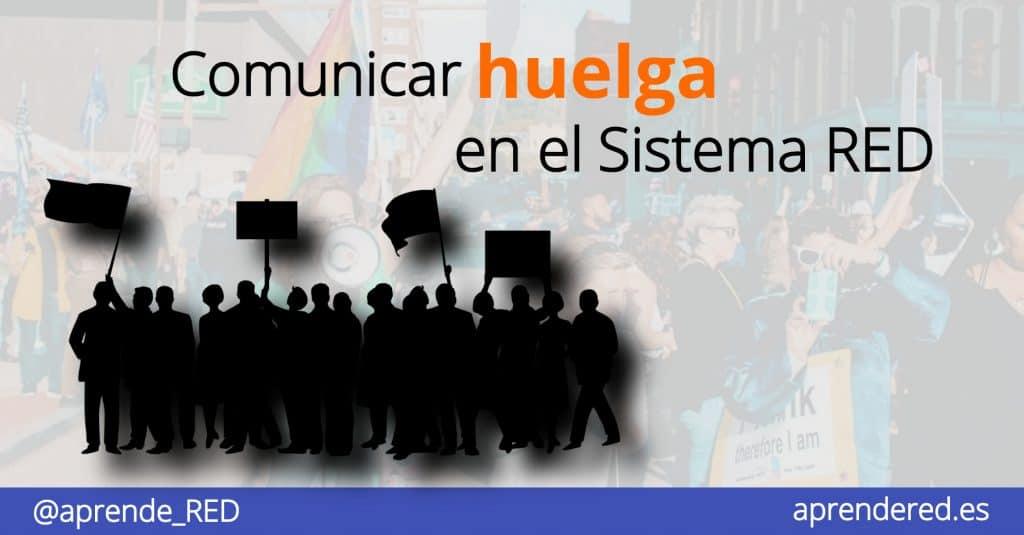 Comunicar huelga en Sistema RED